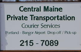 Courier services provided by Central Maine Private Transporation, Farmingdale, Maine.